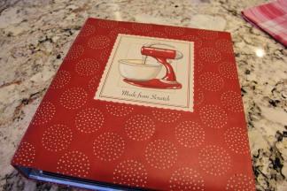 Saved recipe binder